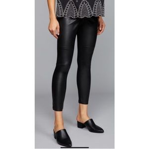 MATERNITY FAUX LEATHER PANTS
